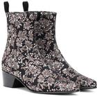 Reno floral brocade ankle boots