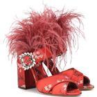 x Johanna Ortiz Reyner feather-trimmed sandals