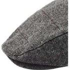 Burton Mens Herringbone Over Check Flat Cap, Grey
