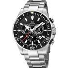 Jaguar Executive Diver chrono armbåndsur i stål med sort skive