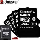 Kingston Class 10 Micro SD / TF Card 32GB 64GB 8GB 16GB U1 With Adapter Case Class 4 Memory Mini SDHC SDXC For Smartphone Camer