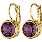 Dyrberg/Kern Louise Brass Earrings w. Purple Crystal (351757)