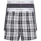 Calvin Klein Modern Cotton Slim Fit Boxer 2-pack - Ryan Stripe D Well/ Hickory Plaid B