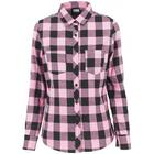 Urban Classics Turnup Checked Flanell Shirt - Blk/Rose