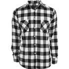Urban Classics Checked Flannel Shirt - Black/White