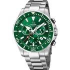 Jaguar Executive Diver chrono armbåndsur i stål med grøn skive