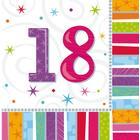 Amscan Napkins Radiant Birthday 18 16-pack