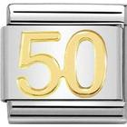 Nomination Composable Classic Link Number 50 Charm - Silver/Gold