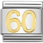 Nomination Composable Classic Link Number 60 Charm - Silver/Gold