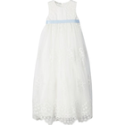 Name It Unisex Embroidered Tulle Christening Gown - White/Snow White (13169733)