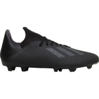 Adidas X 19.3 Firm Ground Boots - Core Black/Utility Black/Silver Met