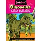 The Green Board Game Co. Colour and Learn Dinosaurs Colouring Book