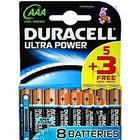 Duracell Ultra Power AAA 5 Pack + 3 Gratis