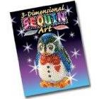 KSG Arts and Crafts 3D Sequin Art 0503 Penguin 3D Polystyrene Model Kit