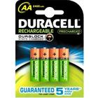 "Duracell ""Laddningsbara batterier AA 4-pack 2400mAh"
