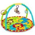 Bright Starts Pal Around 9194 Play Mat Jungle with Arch / Shatter-Proof Mirror / Rattle Ring