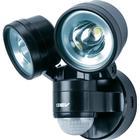GEV LED-udendørslyskaster med bevægelsessensor GEV Duo LLL 14718 8 W 450 lm Neutral hvid Sort