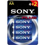 Sony Stamina Plus Batteri Alkaline 4st AA/LR6 1,5V