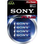 Sony Stamina Plus Batteri Alkaline 4st AAA/LR03 1,5V