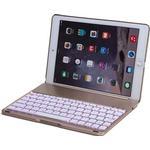 MTP Products iPad Air 2 Witspad F8S Luminous Aluminum Bluetooth Tangentbord & Väska - Guld