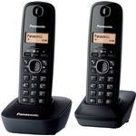 2 - Trådlös Fast Telefoni Panasonic KX-TG1612 Twin
