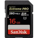 SanDisk Extreme Pro SDHC UHS-II U3 280MB/s 16GB