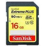 SanDisk Extreme Plus SDHC UHS-I U3 90MB/s 16GB