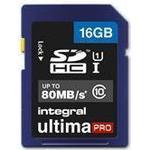Integral UltimaPro SDHC UHS-I U1 80MB/s 16GB