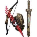 Riddarvapen - Pilbåge och svärd set för barn