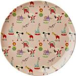 Rice Kids Melamine Lunch Plate with Girl Circus Print 20cm
