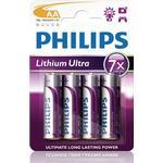 Philips Ultra Batteri Lithium 4st AA/LR6