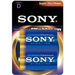 Sony Stamina Platinum Batteri Alkaline 2st D1/LR20 1,5V