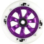 Blunt 7 Spoke Vit PU Sparkcykel Hjul Komplett (110mm - Lila)