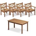 Skagerak Skagen teakgrupp - 4 stolar + 1 bord