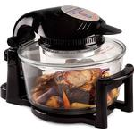 Andrew James 12l Digital 1400w Halogen Oven Cooker With Hinged Lid In Black