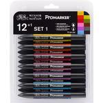 Winsor & Newton ProMarker 12-set + blender (Set 1)