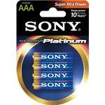 SONY Stamina Platinum, LR03 / AAA batterier, alkaliska, 1,5V, 4-pack