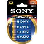 SONY Stamina Platinum, LR06 / AA batterier, alkaliska, 1,5V, 4-pack