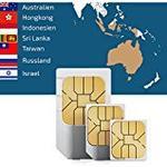 travSIM SIM Karte für Asien (7 Länder) + 2GB Daten Optionen für 30 Tage (Australien, Hongkong,Indonesien, Israel,Russland,Sri Lanka,Taiwan)