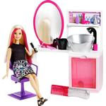 Mattel Barbie Sparkle Style Salon & Blonde Doll