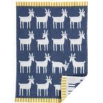 Klippan Yllefabrik Ekologisk ullfilt Deer, flera färger Rökblå Klippan Yllefabrik