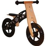 Megaleg Wood Black Learner Bike with Real Wheels with Air