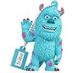 Tribe Disney Pixar Monster & Co. James Sullivan USB Stick 16GB Pen Drive USB Memory Stick Flash Drive, Gift Idea 3D Figure, PVC USB Gadget with Keyholder Key Ring - Baby Blue