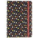 Trendz Universal Protective Folio Case Cover with Built-In Stand and Closing Strap for 10 inch Tablets - Black Polka Dot