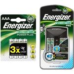 Energizer Accu Recharge PRO Battery Charger + 4 x AA 2000mAh, 4 x AAA 850mAh Rechargeable Batteries