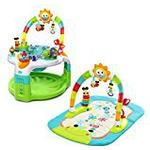Bright Starts 2-In-1 Lights N Learn Activity Gym And Saucer