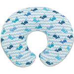 Chicco Boppy Nursing Pillow Blue Whales with Cover