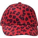 Accessoarer Accessoarer Mini Rodini Leopard Cap - Red