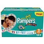 PAMPERS Baby-Dry Nappies (size 3: 4-9 kg) - 1 Mega Box containing 136 nappies