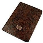 QIOTTI Q. QX 0120/01 st3.10 Slim Tab Look Premium Genuine Leather Case Cover for Samsung Galaxy Tab 3 10.1 (Brown)